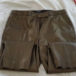 WHBM the skinny ankle gold pants 16